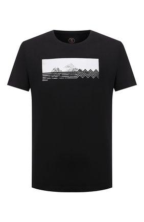 Мужская хлопковая футболка BOGNER черного цвета, арт. 58586604 | Фото 1 (Длина (для топов): Стандартные; Рукава: Короткие; Материал внешний: Хлопок; Принт: С принтом; Стили: Кэжуэл)