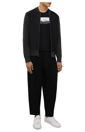 Мужская хлопковая футболка BOGNER черного цвета, арт. 58586604 | Фото 2 (Длина (для топов): Стандартные; Рукава: Короткие; Материал внешний: Хлопок; Принт: С принтом; Стили: Кэжуэл)