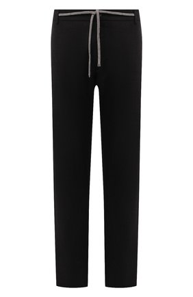 Мужские шерстяные брюки CANALI коричневого цвета, арт. V1659/AR03474/60-64   Фото 1 (Материал внешний: Шерсть; Случай: Повседневный; Стили: Кэжуэл; Длина (брюки, джинсы): Стандартные; Big sizes: Big Sizes)