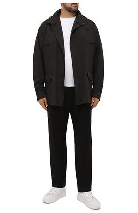 Мужские шерстяные брюки CANALI коричневого цвета, арт. V1659/AR03474/60-64   Фото 2 (Материал внешний: Шерсть; Случай: Повседневный; Стили: Кэжуэл; Длина (брюки, джинсы): Стандартные; Big sizes: Big Sizes)