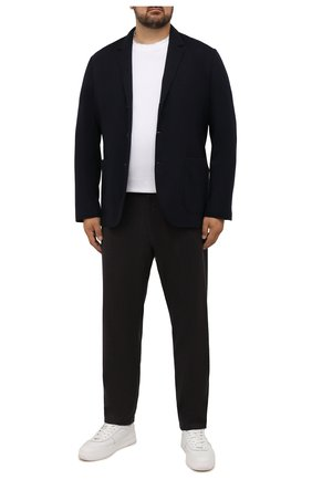 Мужские шерстяные брюки CANALI коричневого цвета, арт. V1659/AR03472/60-64   Фото 2 (Материал внешний: Шерсть; Случай: Повседневный; Стили: Кэжуэл; Длина (брюки, джинсы): Стандартные; Big sizes: Big Sizes)