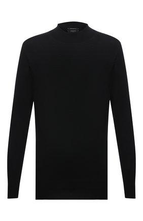 Мужской шерстяная водолазка SVEVO черного цвета, арт. 1314/3XSA21/MP13 | Фото 1 (Материал внешний: Шерсть; Мужское Кросс-КТ: Водолазка-одежда; Стили: Классический; Принт: Без принта; Рукава: Длинные; Длина (для топов): Стандартные; Big sizes: Big Sizes)