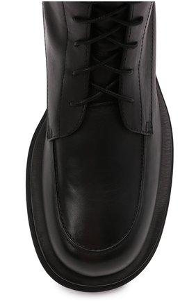 Женские кожаные ботинки MAGDA BUTRYM черного цвета, арт. 5187208008 | Фото 5 (Подошва: Платформа; Каблук высота: Низкий; Женское Кросс-КТ: Военные ботинки; Материал внутренний: Натуральная кожа)