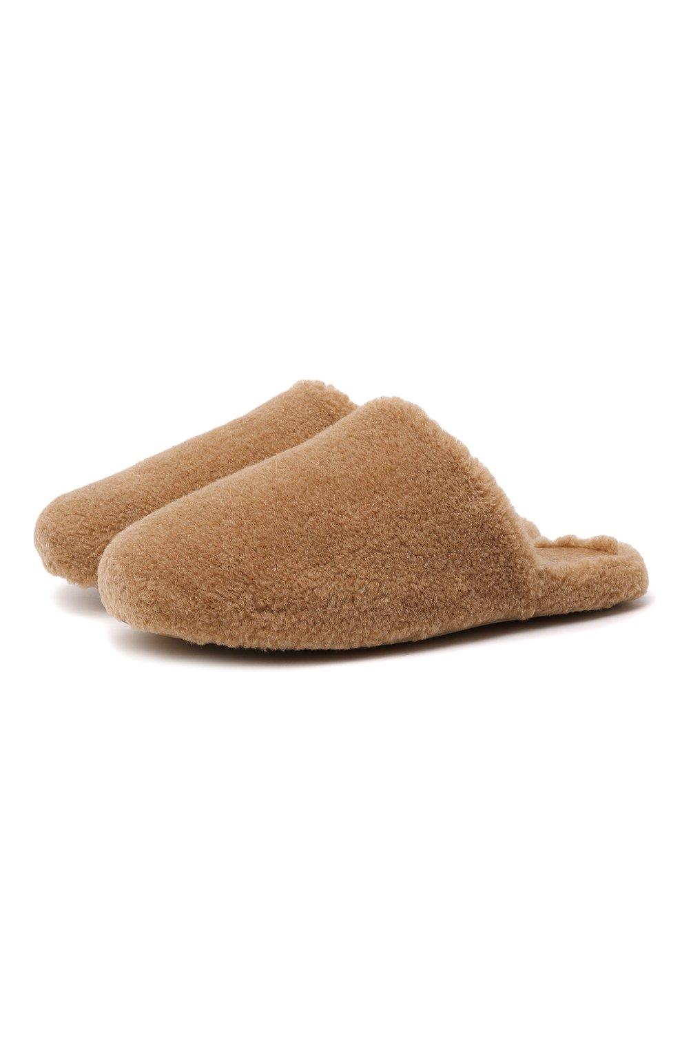 Мужского текстильные домашние туфли LORO PIANA бежевого цвета, арт. FAL9652 | Фото 1 (Материал внешний: Текстиль; Материал внутренний: Текстиль; Мужское Кросс-КТ: тапочки-обувь)