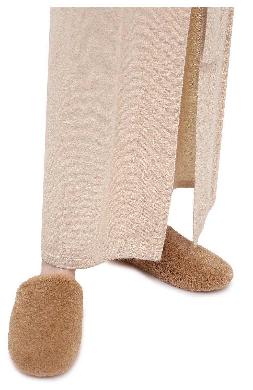 Мужского текстильные домашние туфли LORO PIANA бежевого цвета, арт. FAL9652 | Фото 3 (Материал внешний: Текстиль; Материал внутренний: Текстиль; Мужское Кросс-КТ: тапочки-обувь)