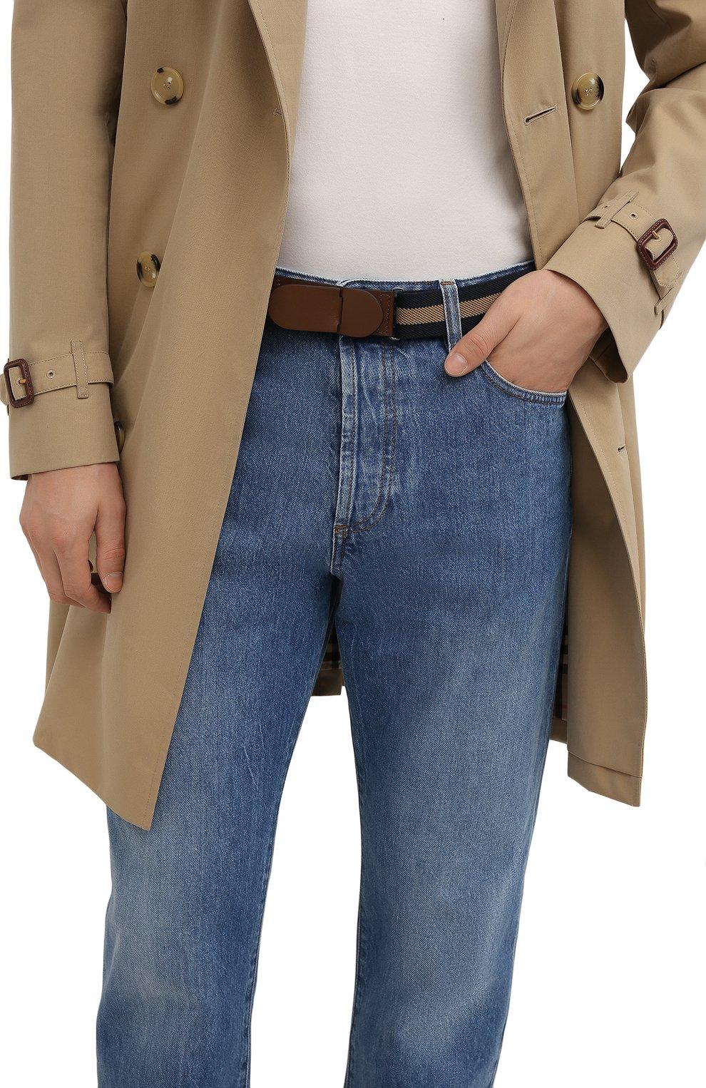 Мужской текстильный ремень TOD'S коричневого цвета, арт. XCMCP770100J21 | Фото 2 (Материал: Текстиль; Случай: Повседневный)