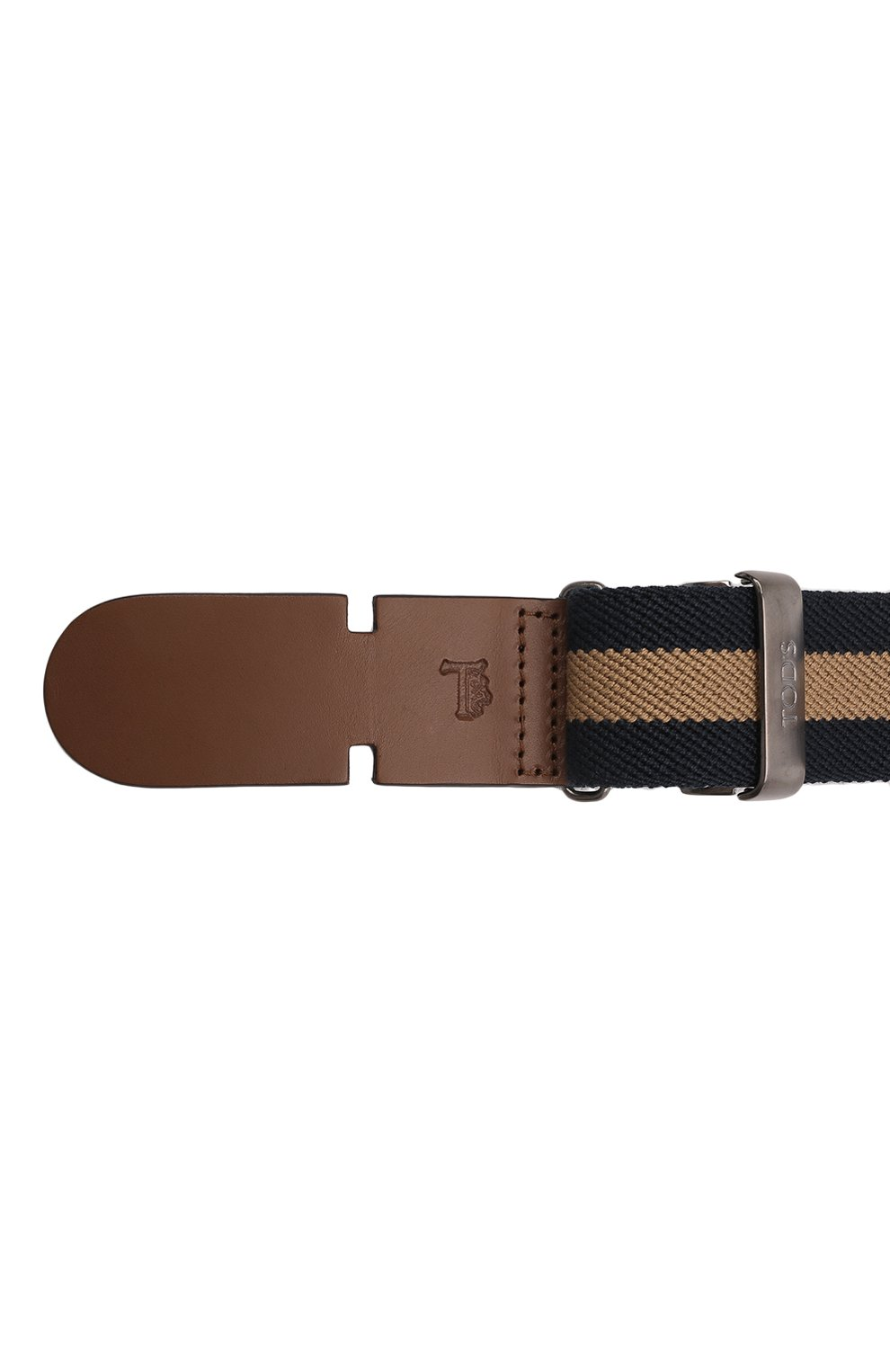 Мужской текстильный ремень TOD'S коричневого цвета, арт. XCMCP770100J21 | Фото 4 (Материал: Текстиль; Случай: Повседневный)