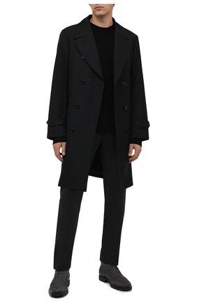 Мужские замшевые ботинки TOD'S серого цвета, арт. XXM04E00D80RE0 | Фото 2 (Материал внутренний: Натуральная кожа; Мужское Кросс-КТ: Ботинки-обувь, Дезерты-обувь; Материал внешний: Замша; Подошва: Плоская)