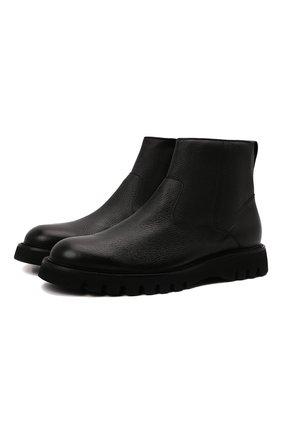 Мужские кожаные сапоги BARRETT черного цвета, арт. BASTIA-014.6/CERV0 | Фото 1 (Подошва: Плоская; Материал утеплителя: Натуральный мех; Мужское Кросс-КТ: Сапоги-обувь, зимние сапоги)