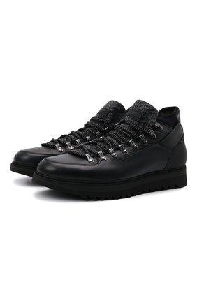 Мужские кожаные ботинки BARRETT черного цвета, арт. MEGEVE-11479.2/C0RAL | Фото 1 (Материал внешний: Текстиль; Материал утеплителя: Натуральный мех; Подошва: Массивная; Мужское Кросс-КТ: Ботинки-обувь, Хайкеры-обувь, зимние ботинки)