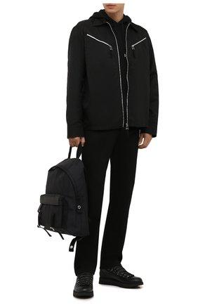 Мужские кожаные ботинки BARRETT черного цвета, арт. MEGEVE-11479.2/C0RAL | Фото 2 (Материал внешний: Текстиль; Материал утеплителя: Натуральный мех; Подошва: Массивная; Мужское Кросс-КТ: Ботинки-обувь, Хайкеры-обувь, зимние ботинки)