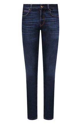 Мужские джинсы Z ZEGNA синего цвета, арт. VY780/ZZ533   Фото 1 (Длина (брюки, джинсы): Стандартные; Материал внешний: Хлопок; Кросс-КТ: Деним; Силуэт М (брюки): Прямые; Детали: Потертости; Стили: Кэжуэл)
