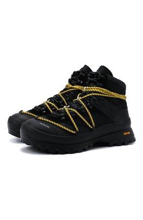 Мужские комбинированные ботинки glacier MONCLER черного цвета, арт. G2-09A-4G704-00-02SXZ | Фото 1 (Подошва: Плоская; Материал внешний: Текстиль; Материал внутренний: Текстиль, Натуральная кожа; Мужское Кросс-КТ: Ботинки-обувь, Хайкеры-обувь)