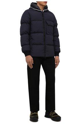 Мужские комбинированные ботинки glacier MONCLER черного цвета, арт. G2-09A-4G704-00-02SXZ | Фото 2 (Подошва: Плоская; Материал внешний: Текстиль; Материал внутренний: Текстиль, Натуральная кожа; Мужское Кросс-КТ: Ботинки-обувь, Хайкеры-обувь)