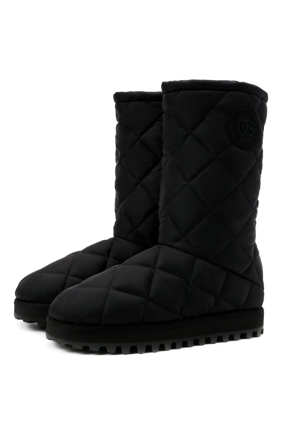 Мужские текстильные сапоги city boots DOLCE & GABBANA черного цвета, арт. CS1904/AQ125   Фото 1 (Материал внешний: Текстиль; Материал внутренний: Текстиль; Подошва: Массивная; Мужское Кросс-КТ: Сапоги-обувь)
