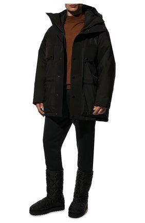 Мужские текстильные сапоги city boots DOLCE & GABBANA черного цвета, арт. CS1904/AQ125   Фото 2 (Материал внешний: Текстиль; Материал внутренний: Текстиль; Подошва: Массивная; Мужское Кросс-КТ: Сапоги-обувь)