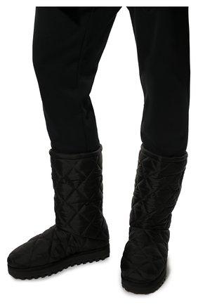 Мужские текстильные сапоги city boots DOLCE & GABBANA черного цвета, арт. CS1904/AQ125   Фото 3 (Материал внешний: Текстиль; Материал внутренний: Текстиль; Подошва: Массивная; Мужское Кросс-КТ: Сапоги-обувь)