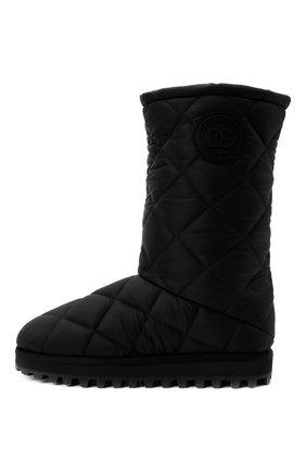 Мужские текстильные сапоги city boots DOLCE & GABBANA черного цвета, арт. CS1904/AQ125   Фото 4 (Материал внешний: Текстиль; Материал внутренний: Текстиль; Подошва: Массивная; Мужское Кросс-КТ: Сапоги-обувь)