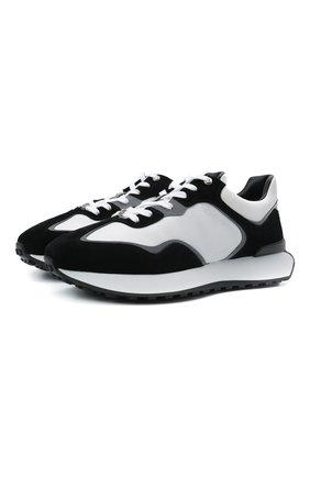 Мужские комбинированные кроссовки giv GIVENCHY черно-белого цвета, арт. BH005CH0XV | Фото 1 (Подошва: Массивная; Материал внутренний: Натуральная кожа; Стили: Гранж)