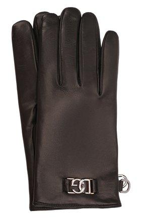 Мужские кожаные перчатки DOLCE & GABBANA черного цвета, арт. BG0144/A0776 | Фото 1 (Мужское Кросс-КТ: Кожа и замша)