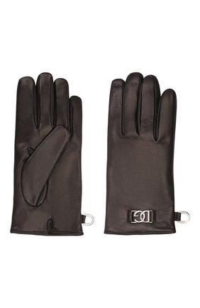 Мужские кожаные перчатки DOLCE & GABBANA черного цвета, арт. BG0144/A0776 | Фото 2 (Мужское Кросс-КТ: Кожа и замша)