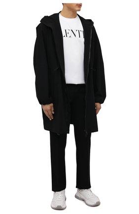 Мужская хлопковая футболка VALENTINO белого цвета, арт. WV0MG10W7SS | Фото 2 (Материал внешний: Хлопок; Рукава: Короткие; Принт: С принтом; Длина (для топов): Стандартные; Стили: Минимализм)
