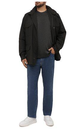 Мужская кашемировый лонгслив MARCO PESCAROLO темно-серого цвета, арт. JAMES2/4468 | Фото 2 (Материал внешний: Шерсть, Кашемир; Рукава: Длинные; Длина (для топов): Удлиненные; Принт: Без принта; Стили: Кэжуэл)
