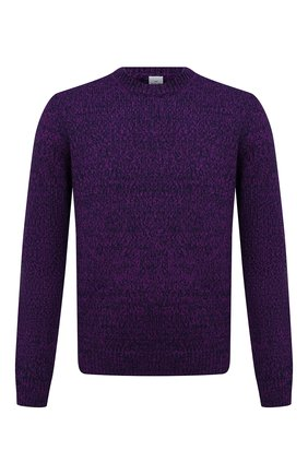 Мужской кашемировый свитер BERLUTI фиолетового цвета, арт. R21KRL187-001   Фото 1 (Материал внешний: Кашемир, Шерсть; Рукава: Длинные; Длина (для топов): Стандартные; Мужское Кросс-КТ: Свитер-одежда; Принт: Без принта; Стили: Кэжуэл)