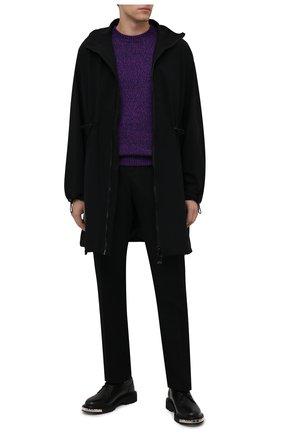 Мужской кашемировый свитер BERLUTI фиолетового цвета, арт. R21KRL187-001   Фото 2 (Материал внешний: Кашемир, Шерсть; Рукава: Длинные; Длина (для топов): Стандартные; Мужское Кросс-КТ: Свитер-одежда; Принт: Без принта; Стили: Кэжуэл)