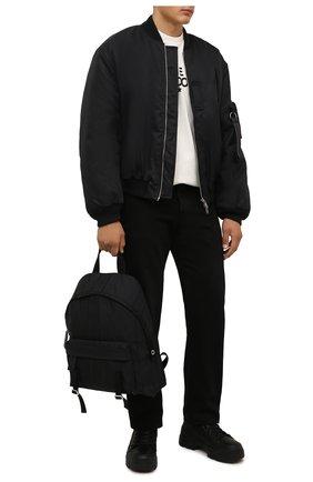 Мужские комбинированные ботинки VIC MATIE черного цвета, арт. 1W3044U.V06CXHB001 | Фото 2 (Материал внутренний: Натуральная кожа, Текстиль; Подошва: Массивная; Материал внешний: Текстиль; Каблук высота: Высокий; Мужское Кросс-КТ: Ботинки-обувь)
