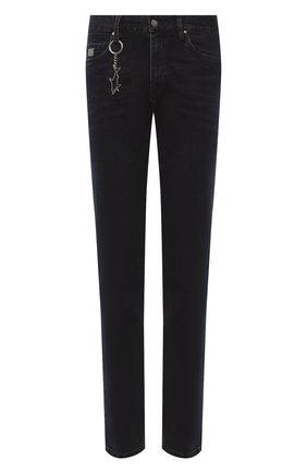 Мужские джинсы PAUL&SHARK темно-синего цвета, арт. 11314104/DUI   Фото 1 (Длина (брюки, джинсы): Стандартные; Материал внешний: Хлопок; Кросс-КТ: Деним; Силуэт М (брюки): Прямые; Стили: Кэжуэл)