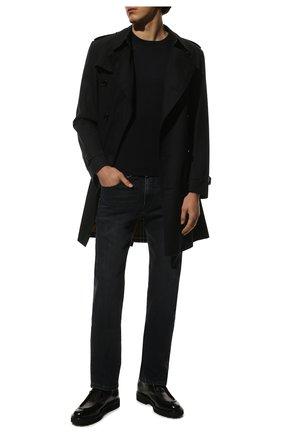 Мужские джинсы PAUL&SHARK темно-синего цвета, арт. 11314104/DUI   Фото 2 (Длина (брюки, джинсы): Стандартные; Материал внешний: Хлопок; Кросс-КТ: Деним; Силуэт М (брюки): Прямые; Стили: Кэжуэл)