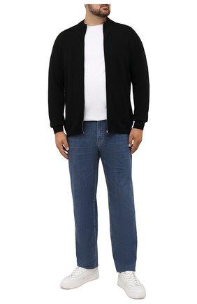 Мужской кашемировый кардиган SVEVO черного цвета, арт. 01046XSA21/MP01/2 | Фото 2 (Материал внешний: Кашемир, Шерсть; Мужское Кросс-КТ: Кардиган-одежда; Стили: Кэжуэл; Рукава: Длинные; Длина (для топов): Стандартные; Big sizes: Big Sizes)