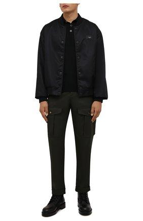 Мужские шерстяные брюки-карго ALEXANDER MCQUEEN хаки цвета, арт. 664272/QRU89 | Фото 2 (Длина (брюки, джинсы): Стандартные; Материал внешний: Шерсть; Случай: Повседневный; Силуэт М (брюки): Карго; Стили: Кэжуэл)