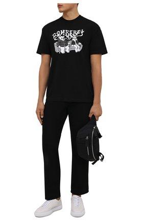 Мужская хлопковая футболка DOMREBEL черного цвета, арт. MC0UCH/B0X T | Фото 2 (Материал внешний: Хлопок; Рукава: Короткие; Принт: С принтом; Стили: Гранж; Длина (для топов): Стандартные)