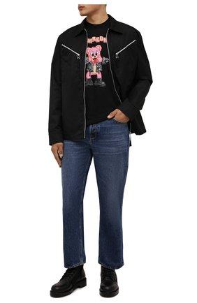 Мужская хлопковая футболка DOMREBEL черного цвета, арт. MBLAH/B0X T | Фото 2 (Материал внешний: Хлопок; Рукава: Короткие; Принт: С принтом; Стили: Гранж; Длина (для топов): Стандартные)