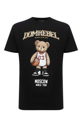 Мужская хлопковая футболка DOMREBEL черного цвета, арт. MBEARBALL/B0X T | Фото 1 (Материал внешний: Хлопок; Рукава: Короткие; Принт: С принтом; Стили: Гранж; Длина (для топов): Стандартные)