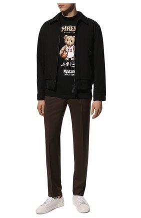Мужская хлопковая футболка DOMREBEL черного цвета, арт. MBEARBALL/B0X T | Фото 2 (Материал внешний: Хлопок; Рукава: Короткие; Принт: С принтом; Стили: Гранж; Длина (для топов): Стандартные)