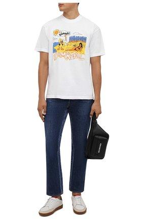 Мужская хлопковая футболка DOMREBEL белого цвета, арт. MBEACH/B0X T | Фото 2 (Рукава: Короткие; Материал внешний: Хлопок; Длина (для топов): Стандартные; Принт: С принтом; Стили: Гранж)