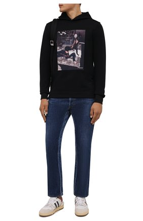 Мужской хлопковое худи LIMITATO черного цвета, арт. FILM TIME/H00DIE | Фото 2 (Материал внешний: Хлопок; Рукава: Длинные; Длина (для топов): Стандартные; Мужское Кросс-КТ: Худи-одежда; Принт: С принтом; Стили: Спорт-шик)
