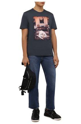 Мужская хлопковая футболка LIMITATO серого цвета, арт. CINEMA TIME/T-SHIRT | Фото 2 (Материал внешний: Хлопок; Рукава: Короткие; Принт: С принтом; Стили: Гранж; Длина (для топов): Стандартные)