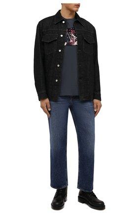 Мужская хлопковая футболка LIMITATO серого цвета, арт. BREAK FAST/T-SHIRT | Фото 2 (Длина (для топов): Стандартные; Рукава: Короткие; Материал внешний: Хлопок; Принт: С принтом; Стили: Кэжуэл)