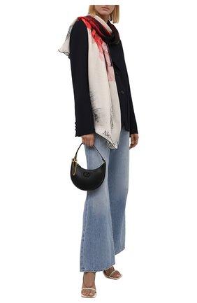 Женский шелковый шарф ALEXANDER MCQUEEN разноцветного цвета, арт. 678563/3011Q   Фото 2 (Материал: Текстиль, Шелк)