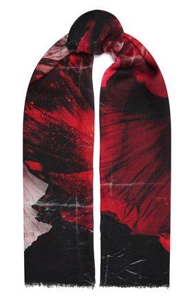 Женская шаль из шерсти и шелка ALEXANDER MCQUEEN разноцветного цвета, арт. 677816/3969Q   Фото 1 (Материал: Шерсть, Шелк, Текстиль)