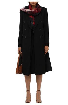 Женская шаль из шерсти и шелка ALEXANDER MCQUEEN разноцветного цвета, арт. 677816/3969Q   Фото 2 (Материал: Шерсть, Шелк, Текстиль)