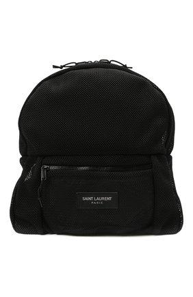 Мужской текстильный рюкзак city SAINT LAURENT черного цвета, арт. 671634/2701Z   Фото 1 (Ремень/цепочка: На ремешке; Материал: Текстиль)