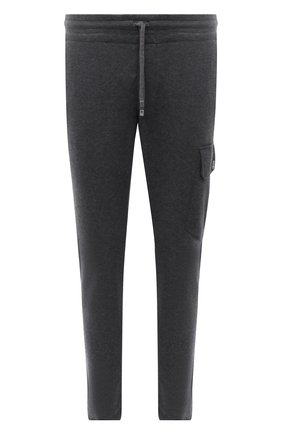 Мужские брюки из хлопка и кашемира CAPOBIANCO серого цвета, арт. 11M730.LB00. | Фото 1 (Длина (брюки, джинсы): Стандартные; Материал внешний: Хлопок; Случай: Повседневный; Мужское Кросс-КТ: Брюки-трикотаж; Стили: Кэжуэл)