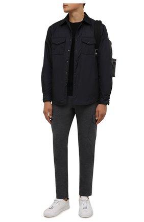Мужские брюки из хлопка и кашемира CAPOBIANCO серого цвета, арт. 11M730.LB00. | Фото 2 (Длина (брюки, джинсы): Стандартные; Материал внешний: Хлопок; Случай: Повседневный; Мужское Кросс-КТ: Брюки-трикотаж; Стили: Кэжуэл)