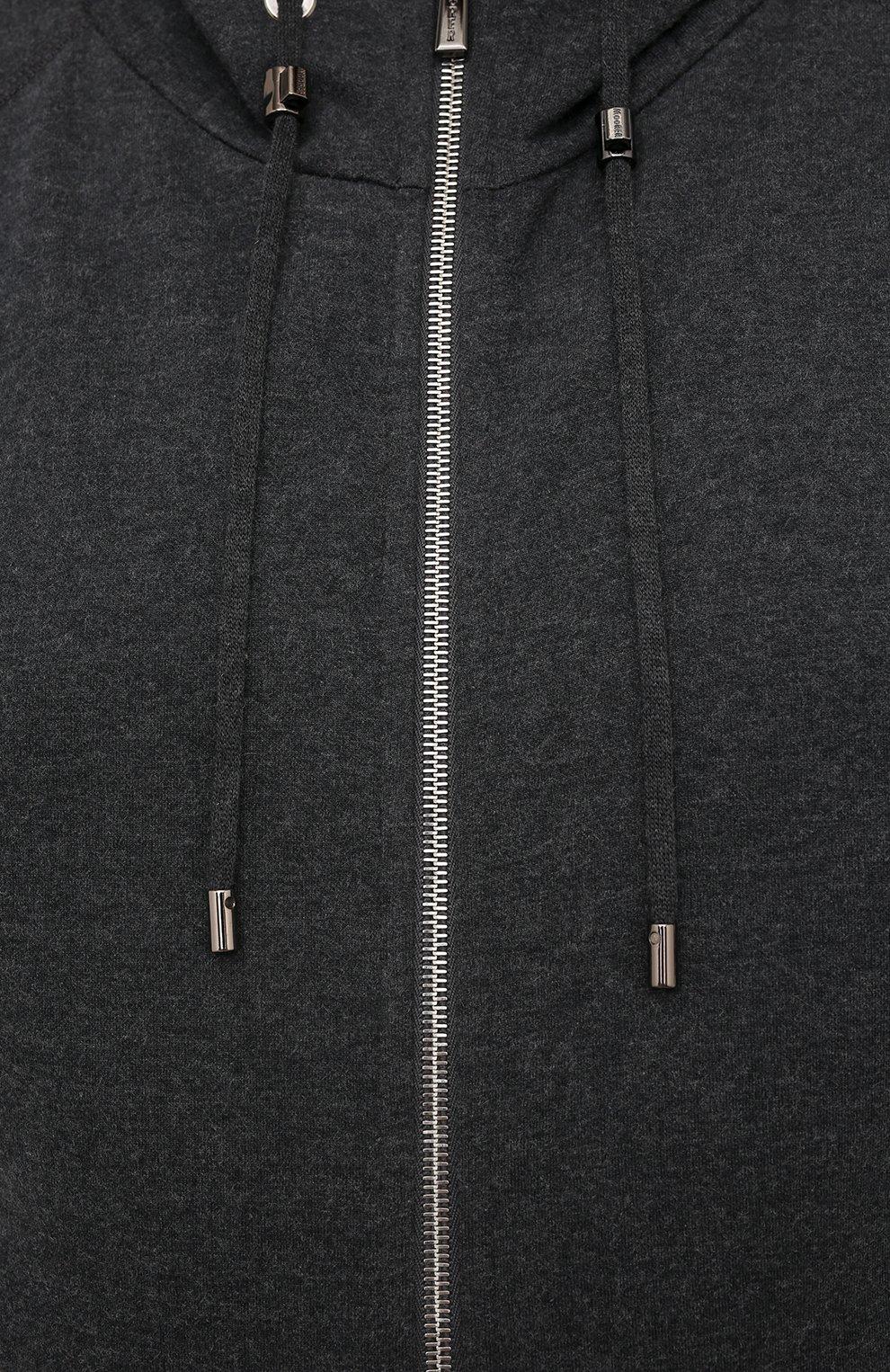 Мужской хлопковый спортивный костюм MOORER серого цвета, арт. SF-N0RCIA TUTA-CAD/M0UMA100059-TEPA308/60-68 | Фото 6 (Big sizes: Big Sizes; Рукава: Длинные; Кросс-КТ: Спорт; Материал внешний: Хлопок)