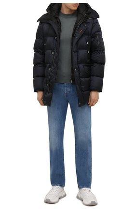 Мужская пуховик grima-sh MOORER темно-синего цвета, арт. GRIMA-SH/M0UGI100336-TEPA174 | Фото 2 (Материал внешний: Синтетический материал; Материал утеплителя: Пух и перо; Материал подклада: Синтетический материал; Рукава: Длинные; Длина (верхняя одежда): До середины бедра; Кросс-КТ: Куртка; Мужское Кросс-КТ: пуховик-короткий; Стили: Кэжуэл)